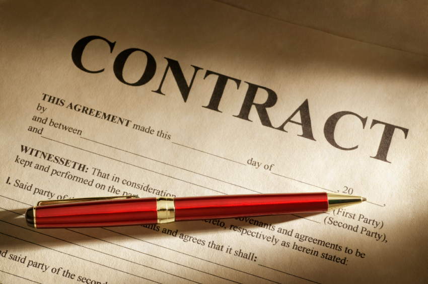 Draft and review the contract